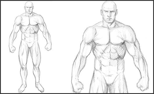Corpo humano - Iremos ver tanto os elementos separados(rosto, braços, torso e pernas) quanto o corpo completo, tanto masculino, quanto feminino.