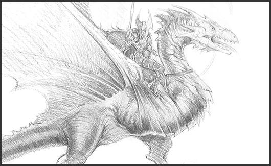 Herói, criatura e dragão. - Você irá aprender a passar para o nível avançado, atingindo um nível mais elevado de desenho