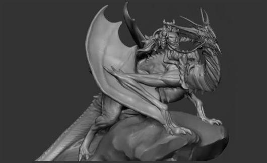 Modelagem de Dragão - Vamos fazer a modelagem de um dragão de corpo inteiro, partindo da concepção.