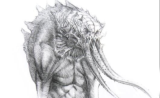 Desenho Criatura - Nesta etapa vamos estudar e modelar uma criatura. Você irá ver como produzir desde a concepção até o modelo finalizado.