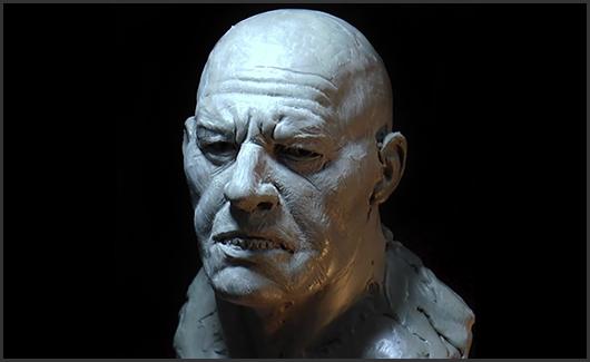 Escultura da cabeça - Vamos ensinar as etapas de construção e refinamento de uma cabeça humana.
